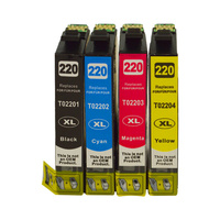 Epson 220XL Series Premium Compatible Ink Cartridge 4 Set