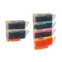 Canon PGI-520 CLI-521 Compatible Ink Cartridge Set 6 Cartridges